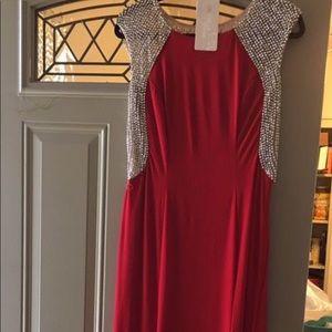 BEAUTIFUL RHINESTONE LONG DRESS